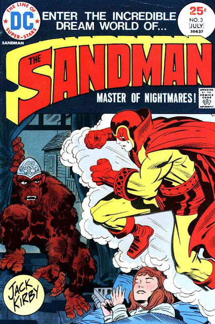 The Sandman v1 #3 dc bronze age comic book cover art by Jack Kirby
