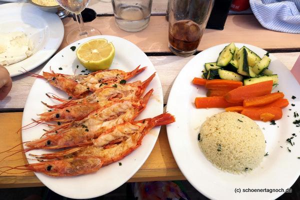 King Prawns im Restaurant Enrico in Plettenberg Bay in Südafrika