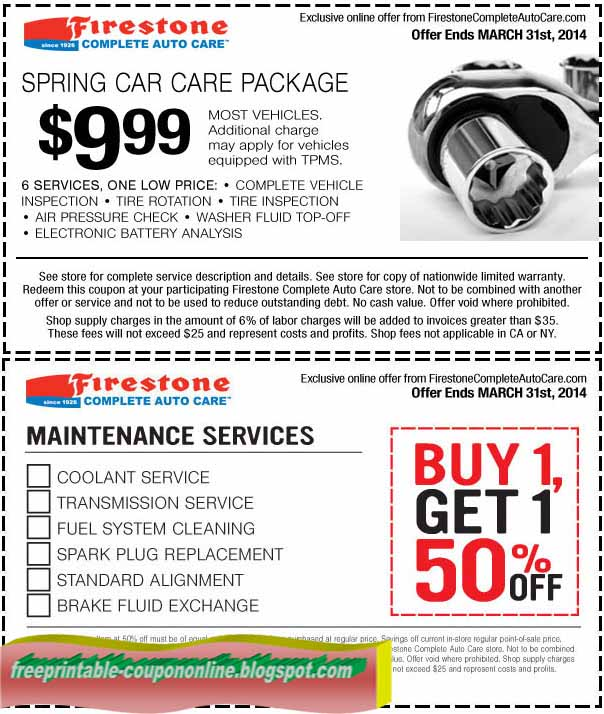 Firestone coupons tires 2018