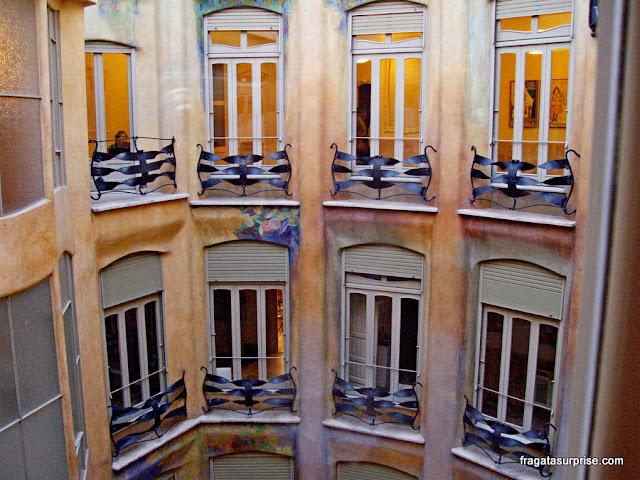 Interior de La Pedrera, obra de Gaudi em Barcelona