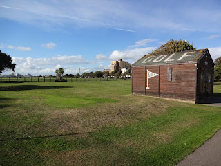 The GOLF hut and grass Minigolf course on Southsea Common