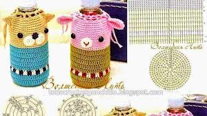 Patrones de Porta Botella para niños - Crochet