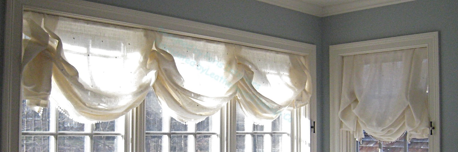 This Lined Cotton Sheer Shade Has Deeper Pleats And Tails It Could Be Called A Triple London Was Designed To Complement The Adjacent Single