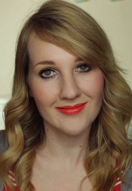Jordana Apricot Glaze lipstick swatches & review