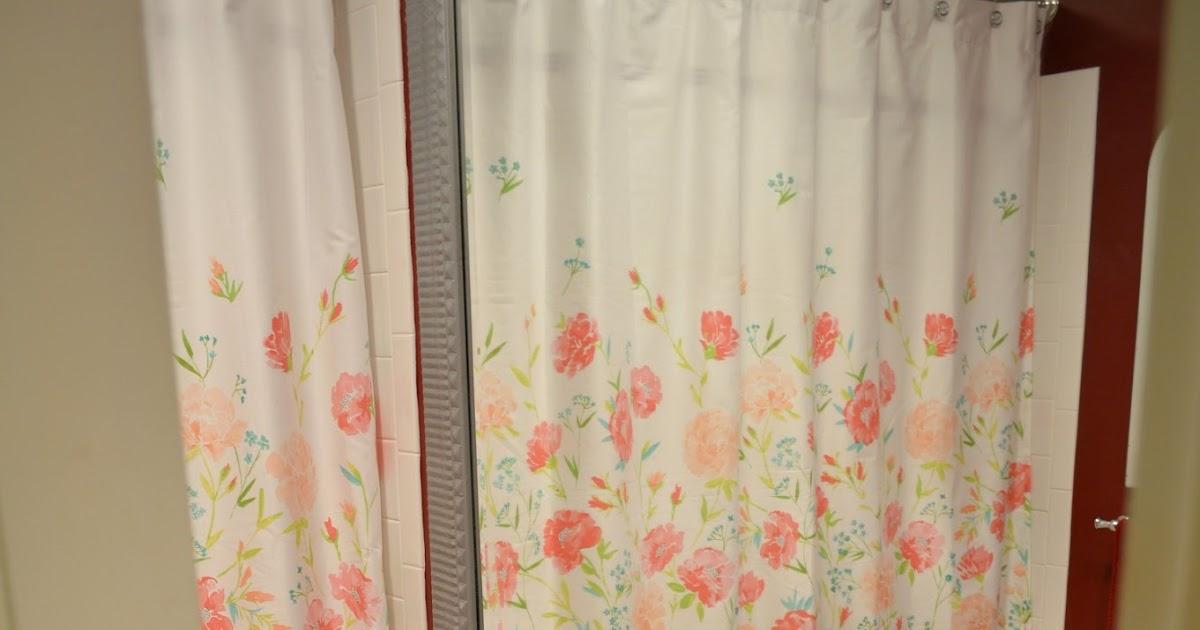 Springtime Shower Curtain Swap |Exquisitely Unremarkable