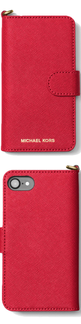 MICHAEL MICHAEL KORS Saffiano Leather Folio Phone Case For iPhone 7