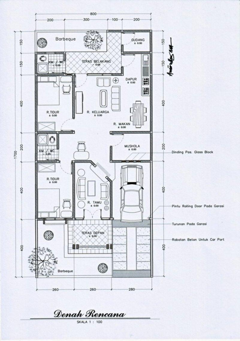 Denah Rumah Minimalis 7x9 1 Lantai
