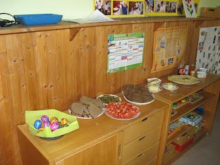 Frühstücks-Häppchen an Ostern im Kindergarten