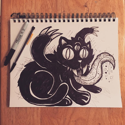 Monster Cat sketch...
