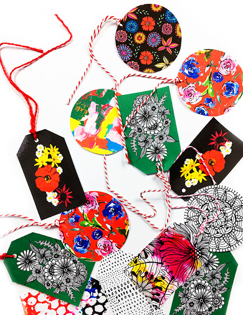 Original holiday gift tags compliments of Alisa Burke