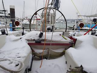 snowy cockpit