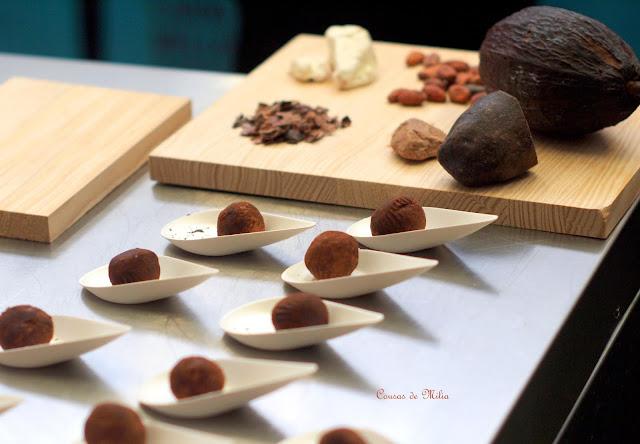 Trufas de calabaza y nueces con especies del Comercio Justo