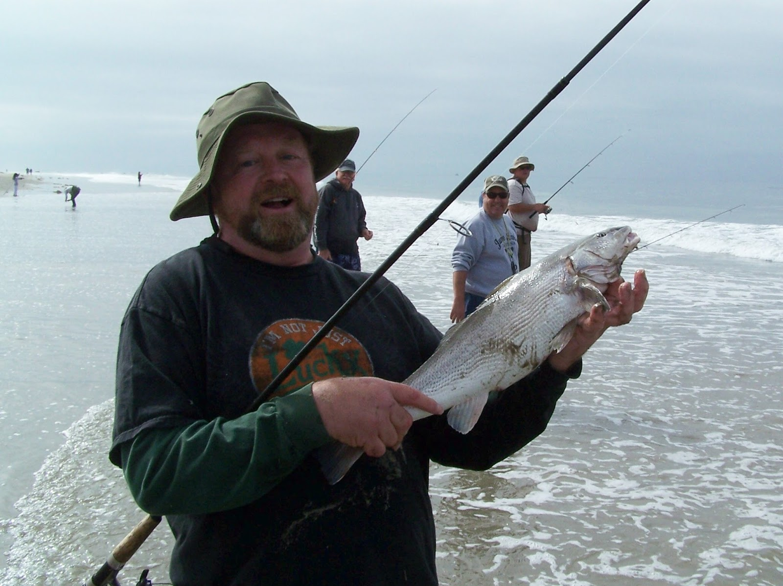 Surf fishing report for Monterey fishing report