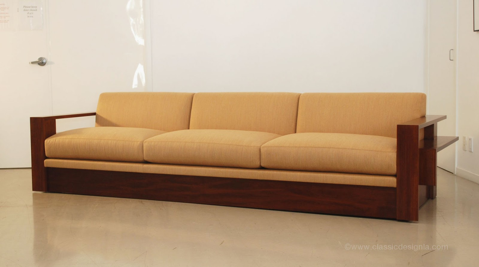 Wooden Sectional Sofa Modern U Shaped Classic Design Custom Wood Frame