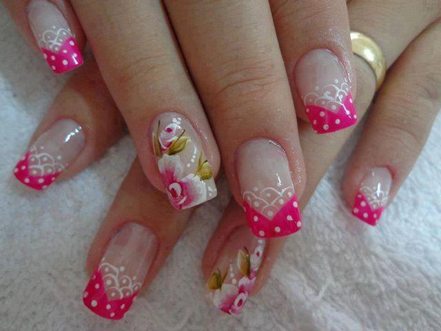 Melhores unhas decoradas desenhos rosas