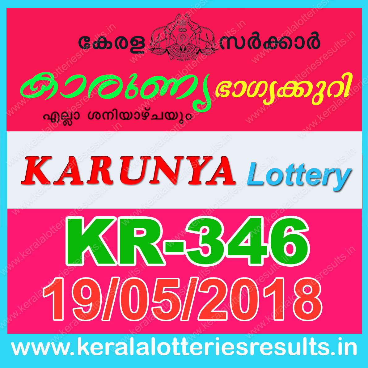 Kerala Lottery Result Weekly Chart 2018
