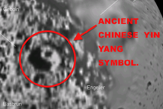 Chinese Yin-Yang Symbol Discovered In NASA photo of Saturn's Moon Iapetus, UFO Sighting News.