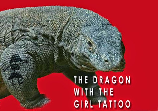 Funny Dragon With Girl Tattoo Joke Picture