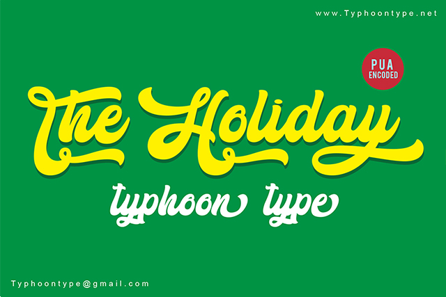 The Holiday Bold Script Font Free Download   Free Script Fonts