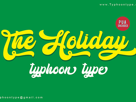 The Holiday Bold Script Font Free Download