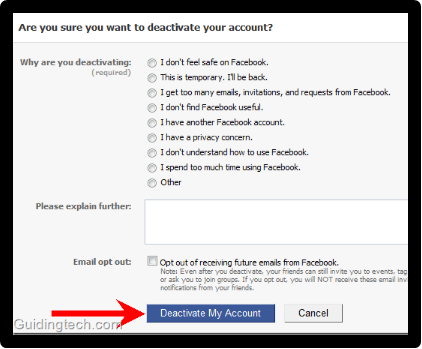 Facebook Disabled My Account