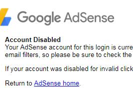 Menyebalkan, Google Adsense Mendadak Ter-Banned Ketika Saldo Hampir Pay Out