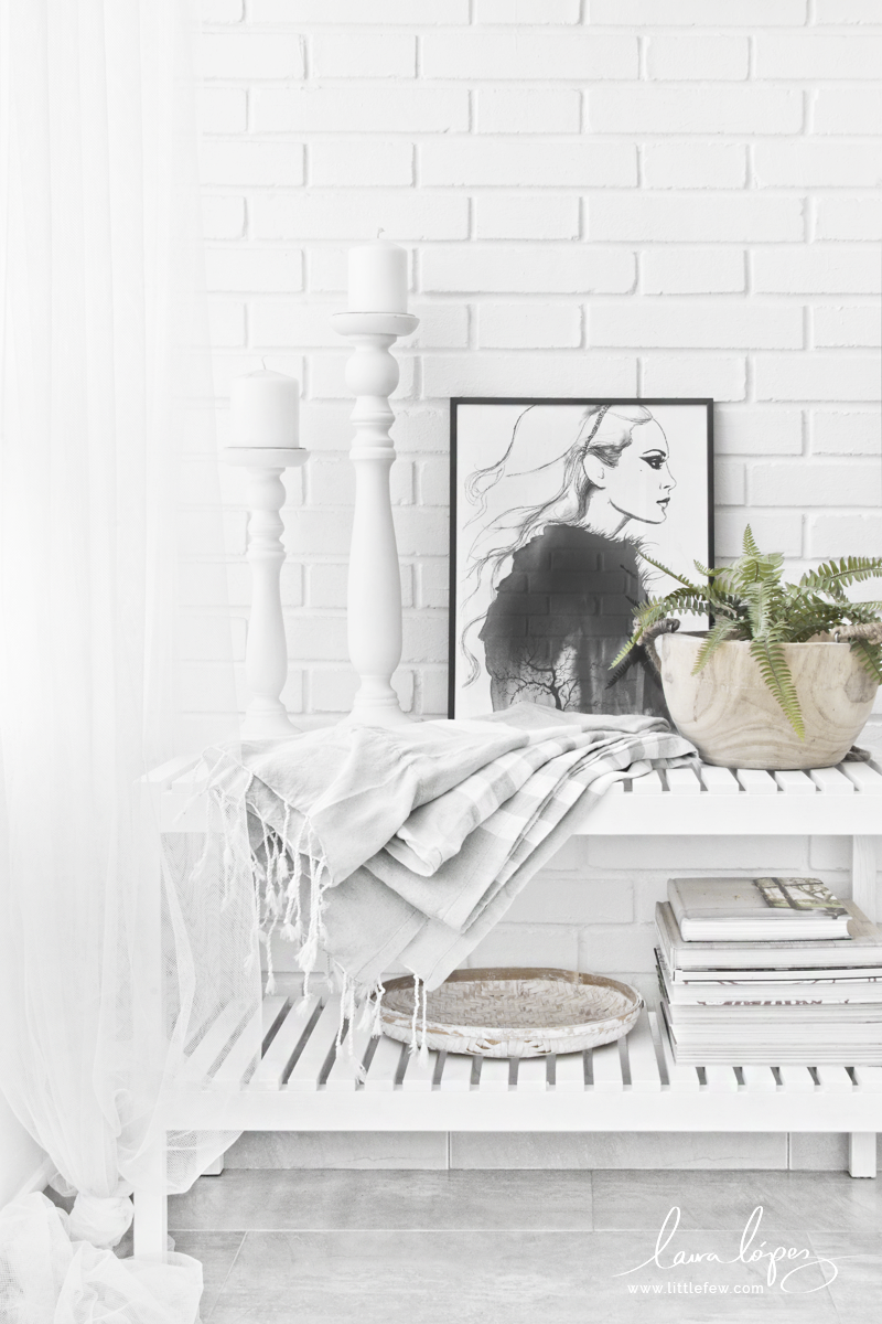 black and white terrace decor