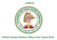 TSPSC Hostel Welfare Officer Hall Ticket