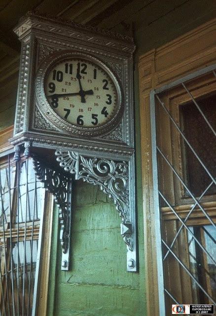 Июль 1988 года. Юрмала. Вокзальные часы на станции Майори