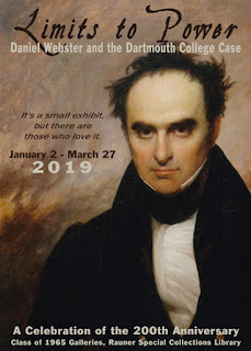 Poster of Daniel Webster exhibit