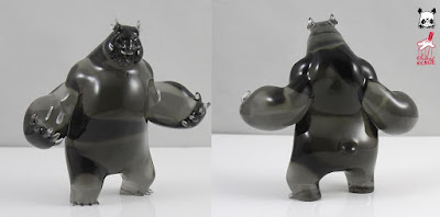 Smoked Panda King III Mini Resin Figure by Woes Martin x Silent Stage Gallery