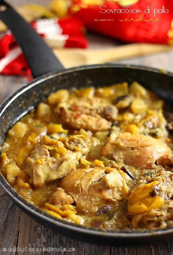 Sovracosce di pollo con verdure e zenzero