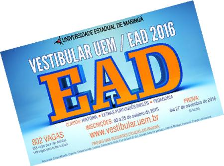 Vestibular EaD 2016 UEM