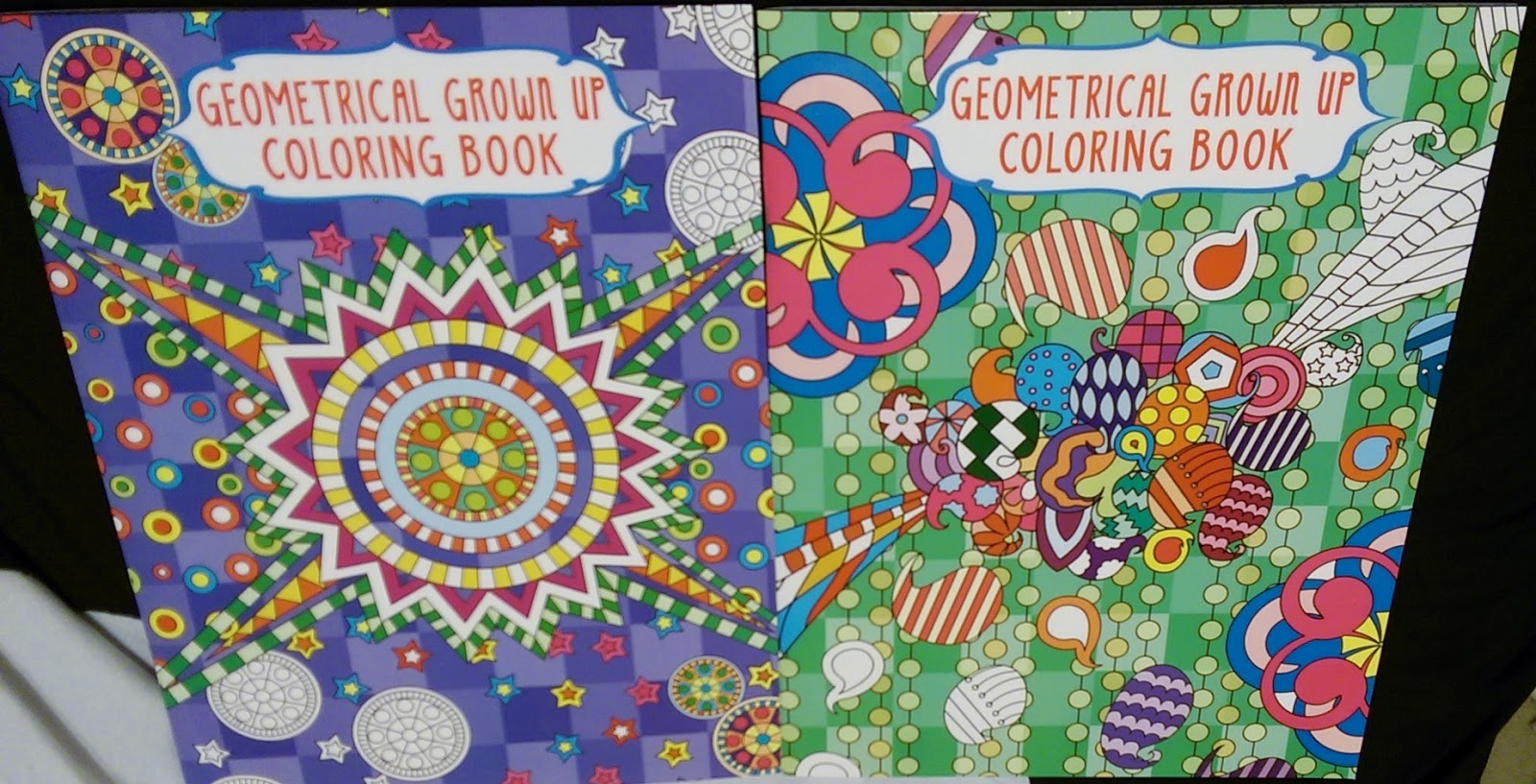 Dollar Tree Geometric Grown Up Coloring Books For Adults Calming Pastime Activity Hobby Trend