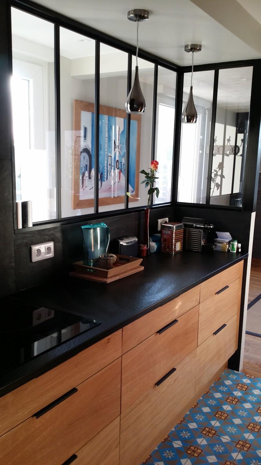 Plan Travail Cuisine Noir michel le coz agencement & décoration: cuisine bois et noire