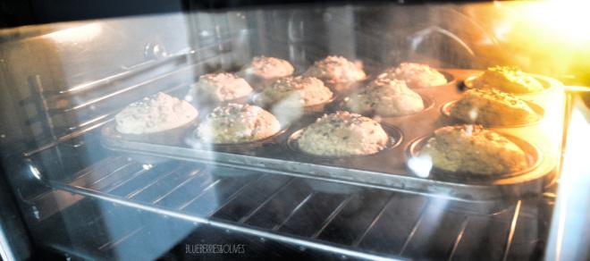 Muffins en el horno - Muffins de higos, sésamo y miel 3