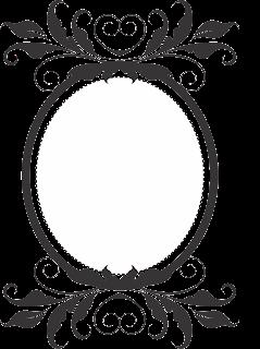 Frame vintage oval
