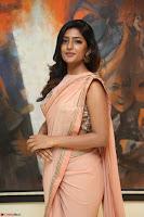 Eesha Rebba in beautiful peach saree at Darshakudu pre release ~  Exclusive Celebrities Galleries 018.JPG