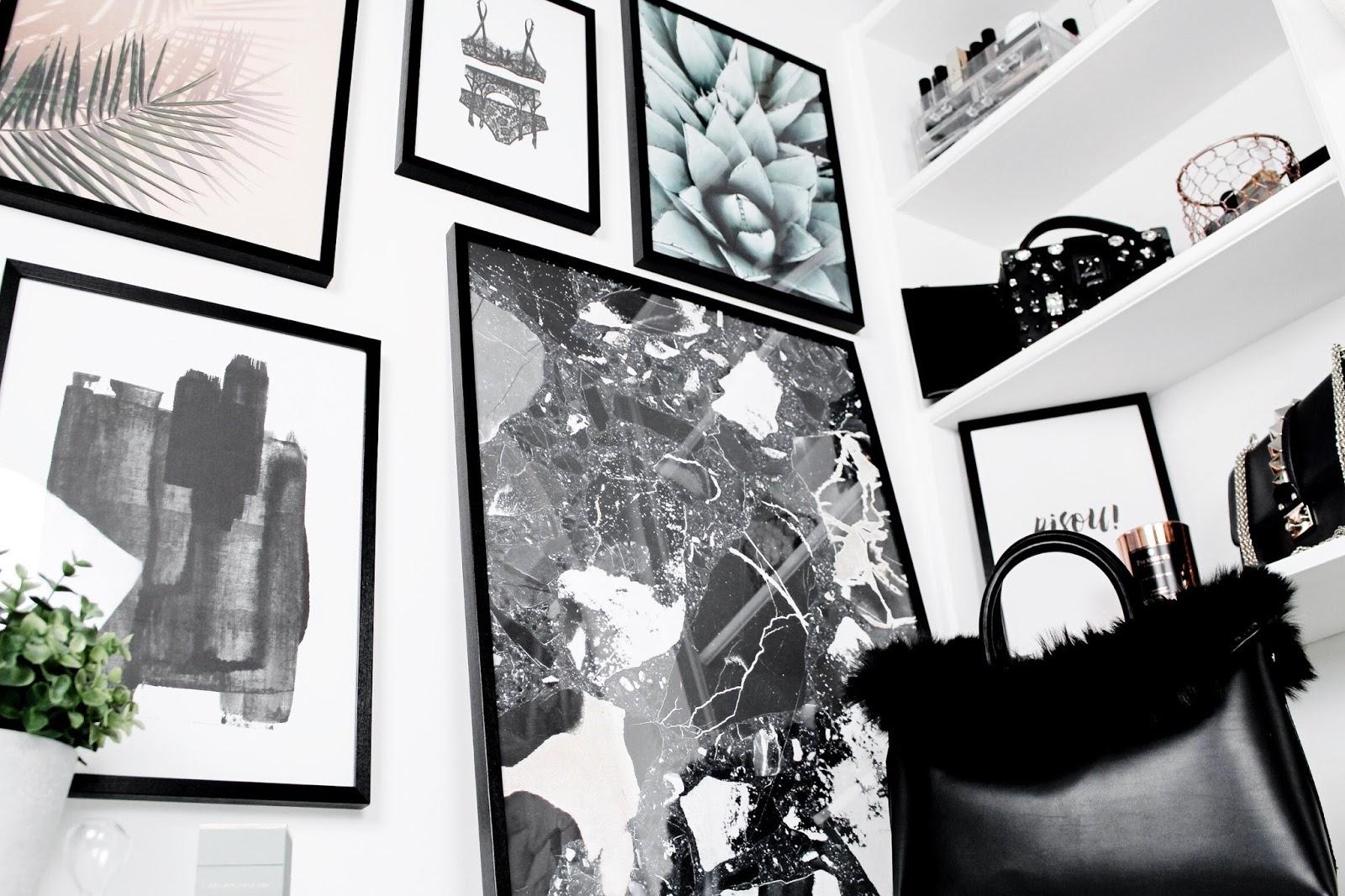 Display of Desenio Scandinavian Art Prints on Wall