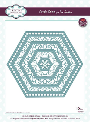 Creative Expressions Noble Collection Classic Adorned Hexagon Dies CED5519