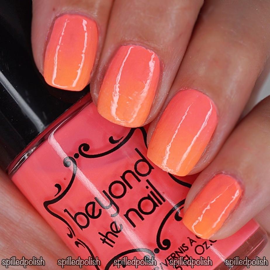 Neon Pink and Orange Gradient - Spilledpolish