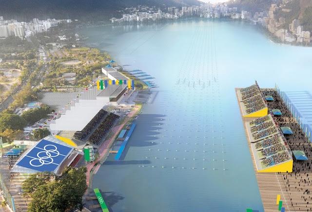 Lagoa Rodrigues de Freitas, prova de remo e canoagem, Jogos Olímpicos Rio 2016