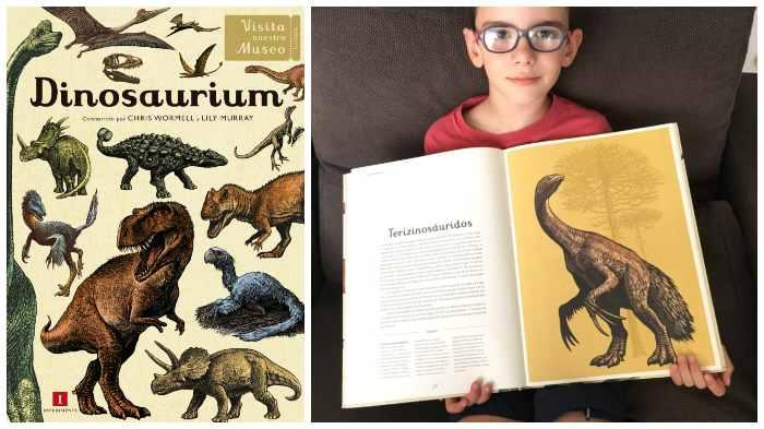 libro conocimientos informativo dinosaurios, dinosaurium visita nuestro museo