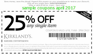 Kirklands coupons for april 2017