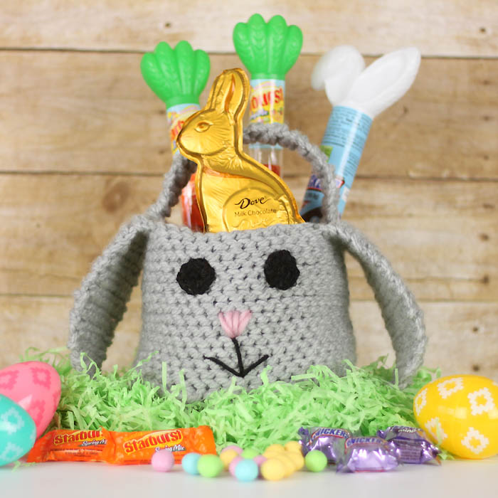 Easter Bunny Basket Crochet Pattern by Gina Michele