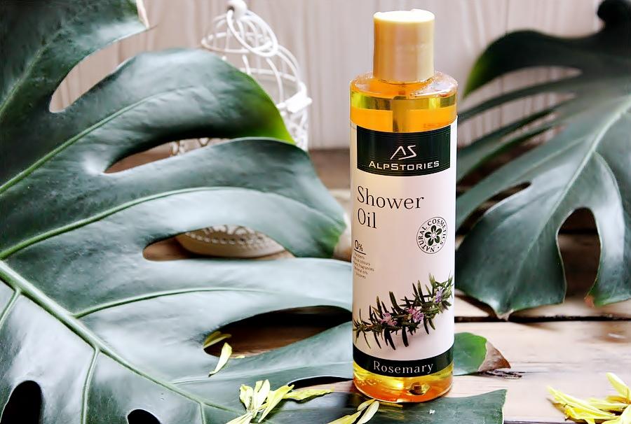 """""""Розмариновое"""" масло для душа для сухой и уставшей кожи AlpStories Rosemary Shower Oil / обзор, отзывы"""