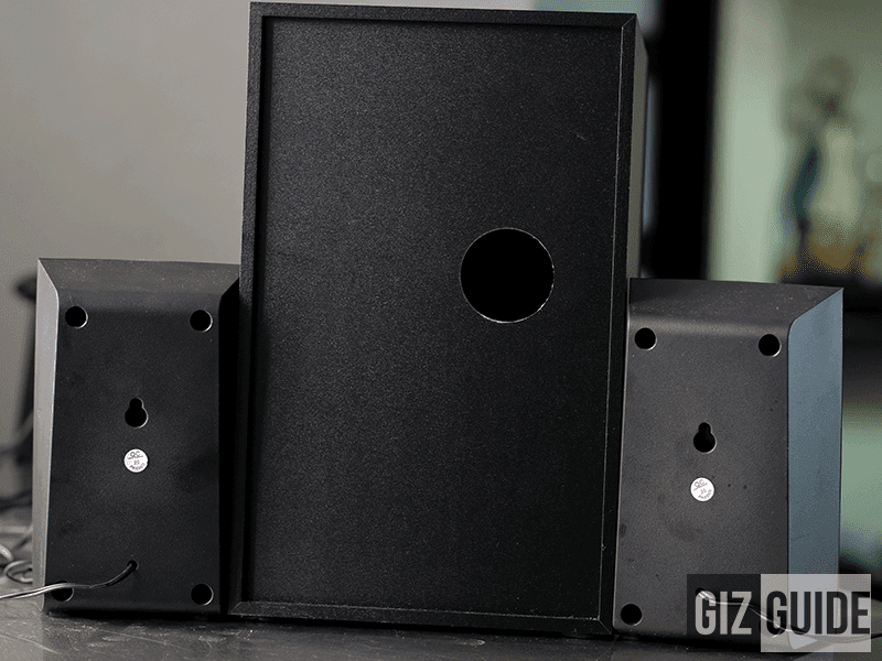 The back sides have holes for screws and mounts!