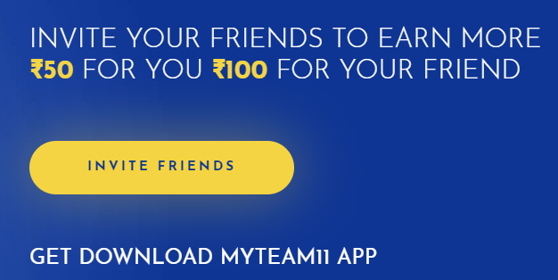 How to Refer MyTeam11 App Code & Earn Free Bonus