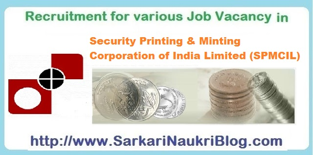Naukri Vacancy Recruitment Indiia SPMCIL