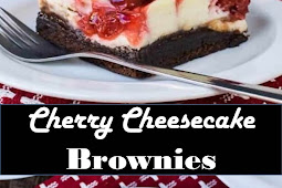 #Amazing #Recipes #Around #The #World #Cherry #Cheesecake #Brownies